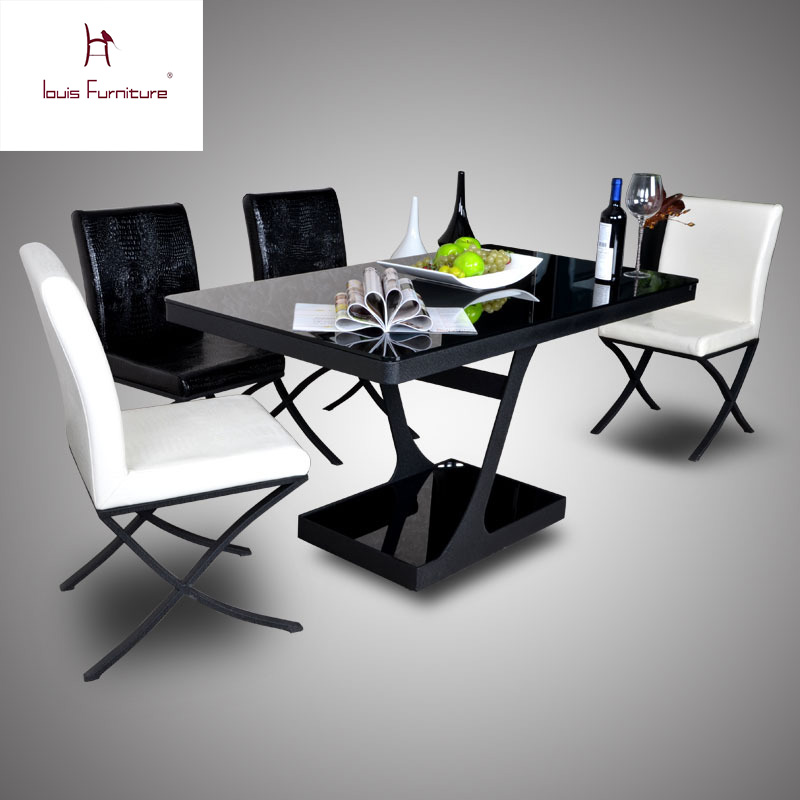 Toughened glass table contracted and contemporary home restaurant dining tables and metal double table, leisure table(China (Mainland))