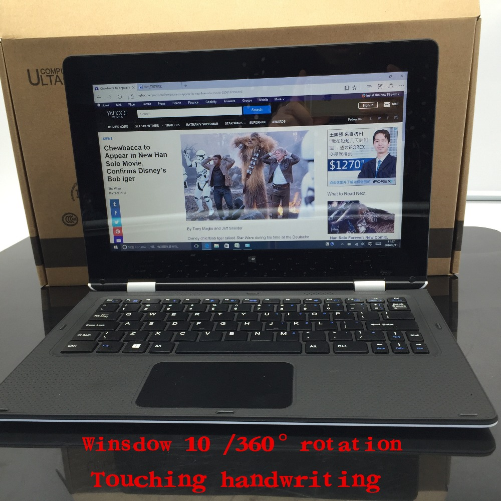 11.6 inch laptop 4GB+64GB Atom X5-Z8300 Touching Handwriting Windows10 360 Degrees PC Notebook tablet Quad-core TF Card netbook(China (Mainland))
