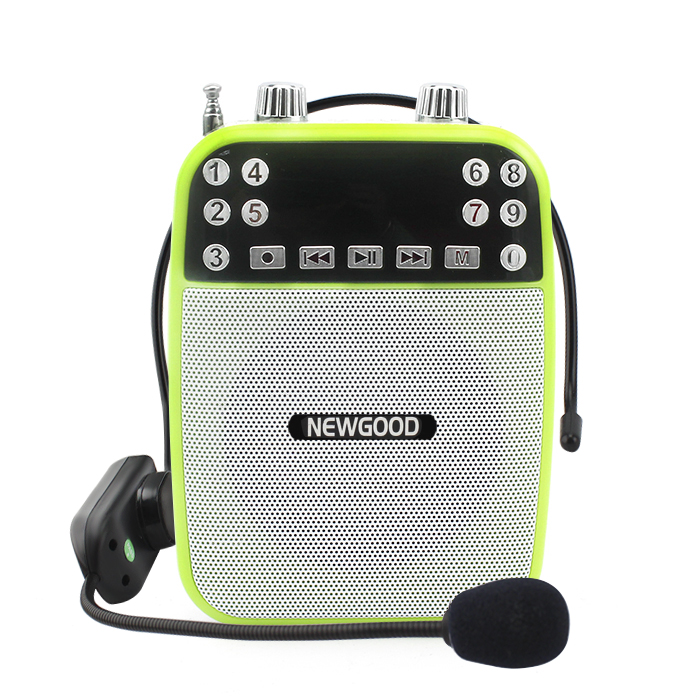 Portable wired microphone Voice Amplifier music player speakers with echo and feedback control For Teaching/Tour Guiding(China (Mainland))