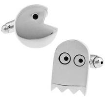 2016 New Cufflinks For Mens Jewelry Shirt Cufflinks Brand Cuff Buttons Silver Color Pacman Cuff Link High Quality Wedding