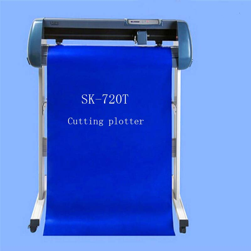 Free shipping sticker cutting machiner/vinyl cutting plotter sk-720T support 90V-240V Voltage CE(China (Mainland))