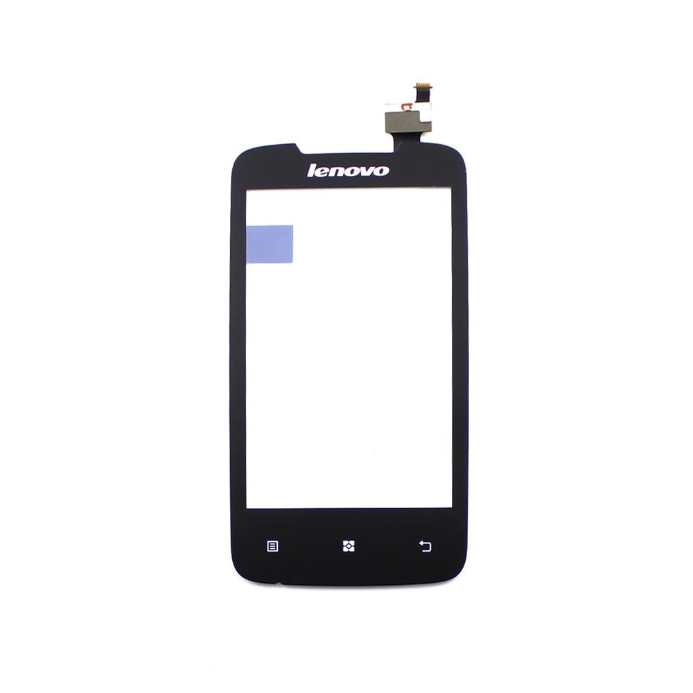 10pcs A370E Tested 100% Original Black Front Touch Screen Digitizer Glass Lens For Lenovo A370E 4