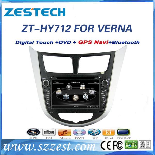 Best selling car radio 2 din for Hyundai Solaris/Verna with gps sat navi system(China (Mainland))