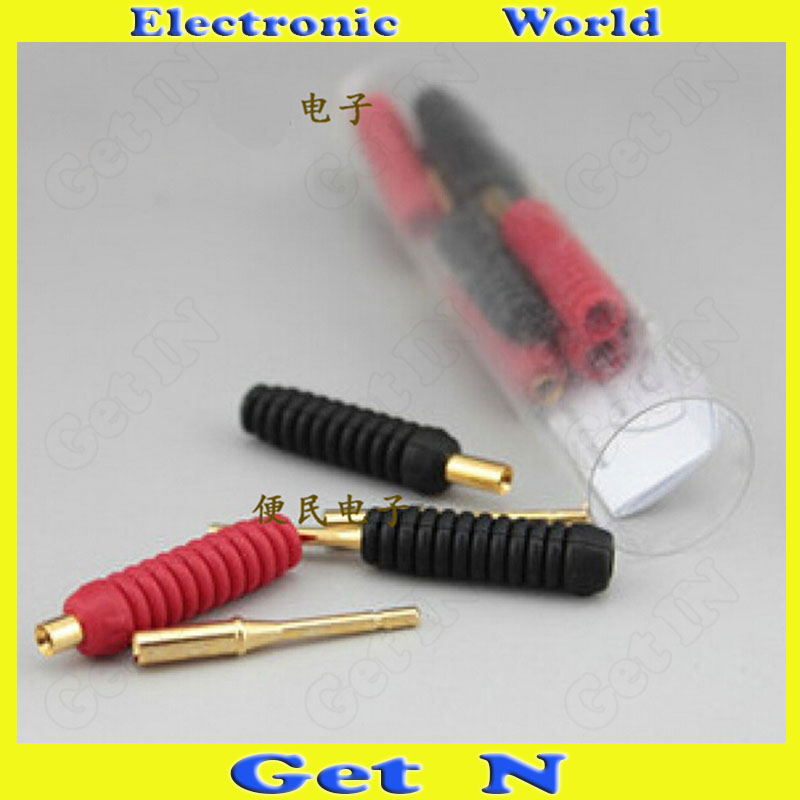 25pcs Monster Brand New Box Speaker Cable Pin Plug Audio Cable Pin Connectors(China (Mainland))