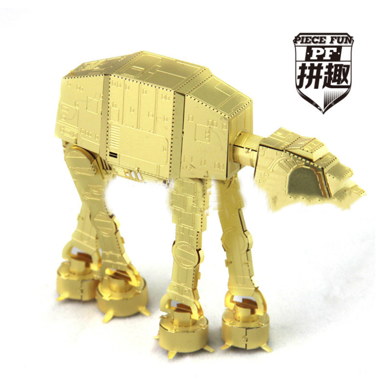 Star Wars,famous,DIY,3D,Metal,realistic,golden,Scale Miniature Model Kids,best toys,the ATAT dog,Intelligent Educational Toys(China (Mainland))