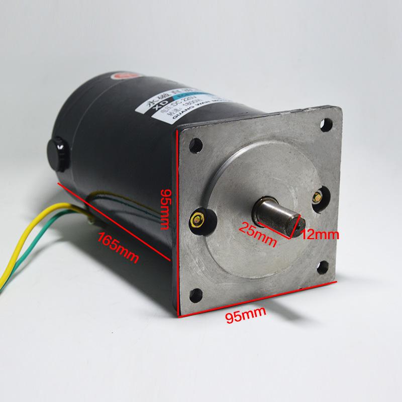 Фотография DC220V High Speed Motor Power Speed 1800 Rpm Motor Reversing Small Permanent Magnet DC Motor