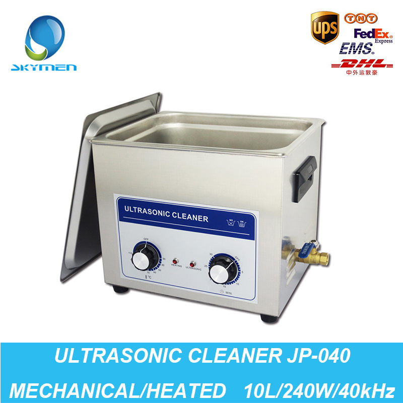 Ultrasonic Jewelry Cleaner 10L 240W 40kHz Baskets Watches Dental PCB Washer Heated Ultrasound Industrial Cleaner Ultrasonic Bath(China (Mainland))