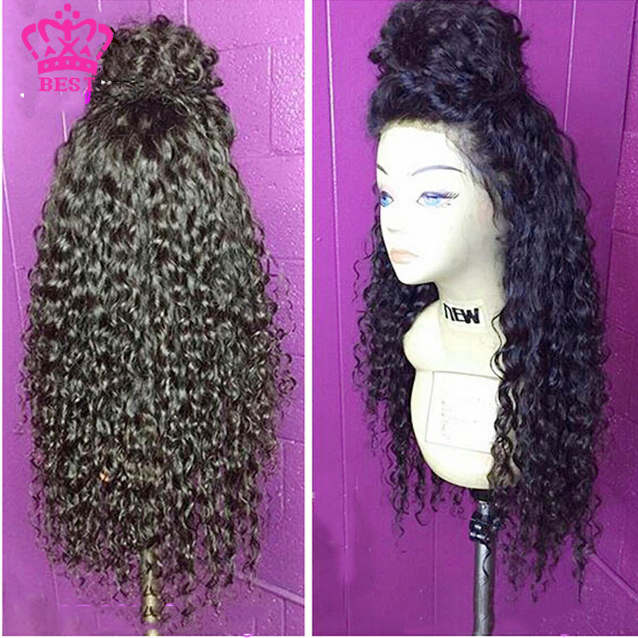 Фотография 7A Top Malaysian Human Hair Full Lace Wigs With Baby Hair Deep Curly Lace Front Wigs Glueless Full Lace Wigs Bleached Knots Wigs