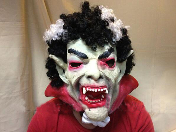 new cheap halloween mask creepy scary toothy horror of smoker zombie mask trick nightmare latex face - Cheap Creepy Halloween Costumes
