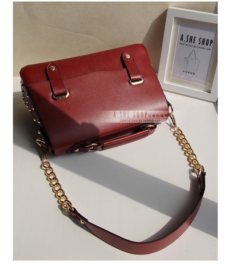 BUENO 2013 Hot Wholesale PU Leather Fashion Women Handbag Vintage