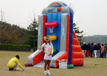 2016 inflatable sports game inflatable backboard inflatable basketball hoops
