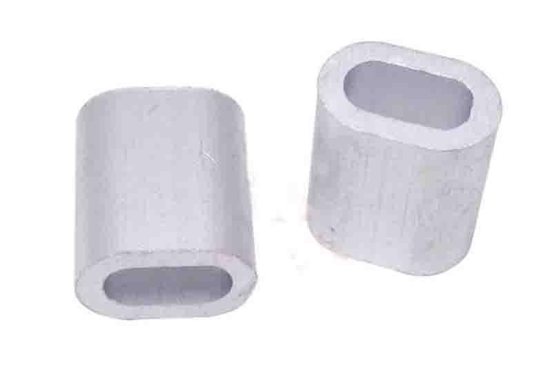 100pcs M1 Aluminum Ferrules Wire Rope Aluminum Ferrules Crimping Sleeve Single Hole Ellipse #A301c(China (Mainland))