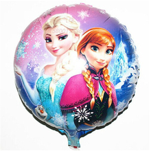Wedding Decoration HOT Sale 5pcs/lot 18 inch FROZEN Round Foil Balloons Birthday Party Decorations Kids toys(China (Mainland))