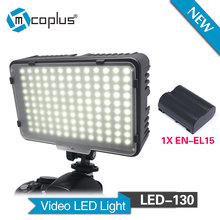 Buy Mcoplus 130 LED Video Light 1xEN-EL15 Battery Canon Nikon Sony Pentax Panasonic Samsung Olympus & DV Camera Camcorder for $35.00 in AliExpress store