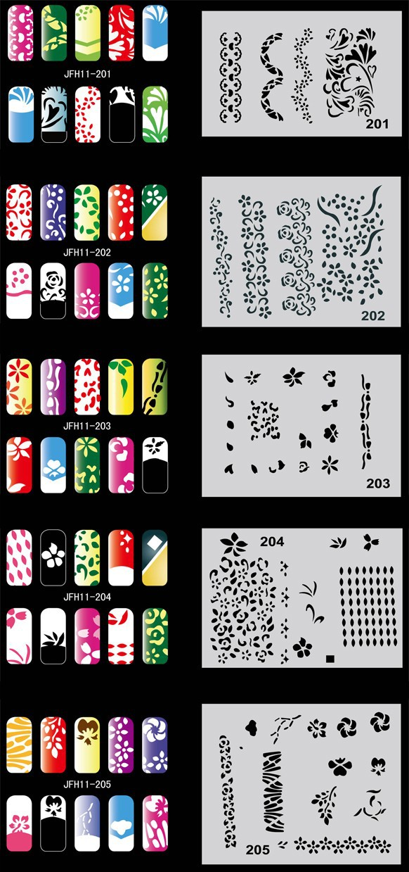 Трафареты для ногтей своими руками шаблоны