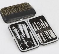 12Pcs Stainless Steel Manicure Pedicure Set Nail Scissors Clippers Kit Tweezer Knife Ear Tools