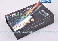большие скидки [путешествие мечты] 1000lm trustfire q5 cree xm-l 3 режима зумирования Светодиодные фонарик + Зарядное устройство + коробка