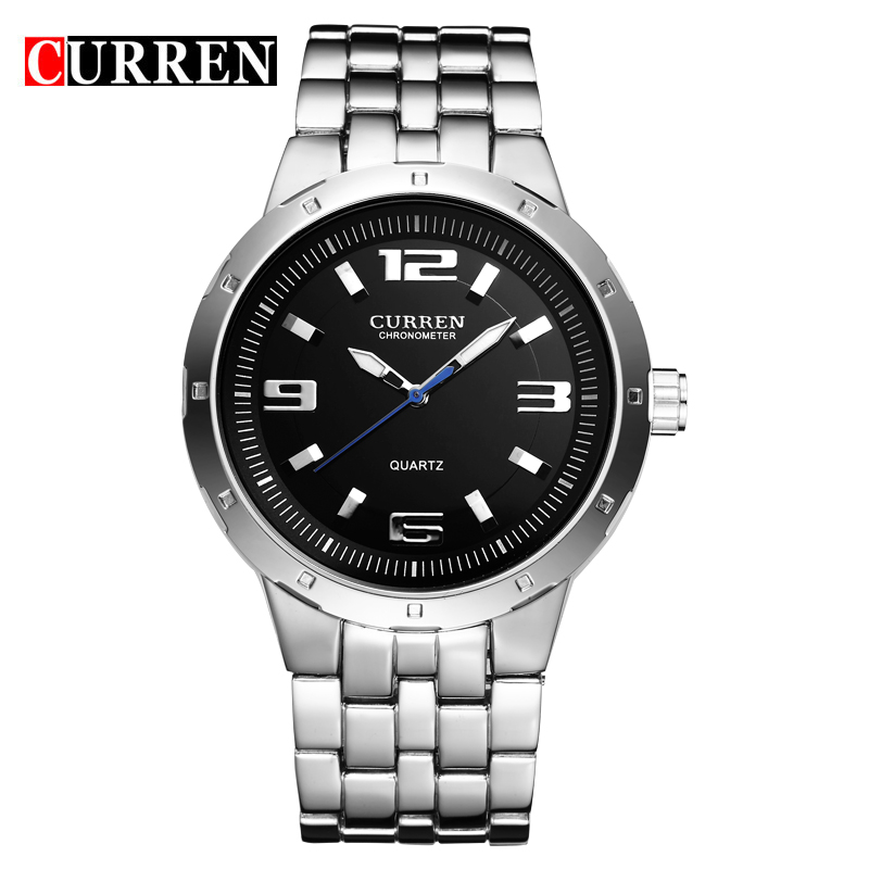 CURREN 2016 China supplier wholesale factory price classic 3 ATM water proof black men's quartz watch,with gift box 8036(China (Mainland))