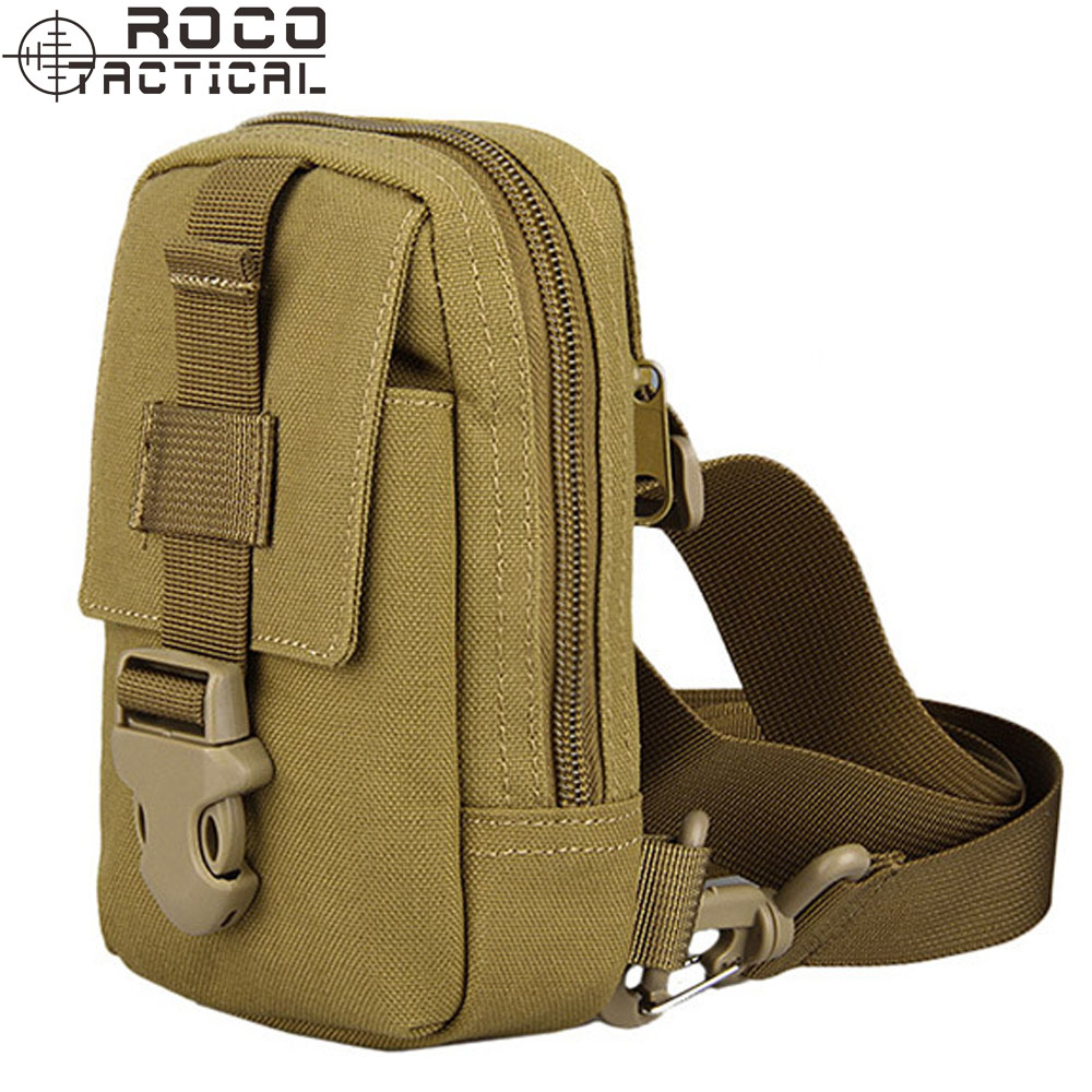 Tactical Mini Sling Pack Cross Body Chest Bags EDC Pouch with ID Card Holder Waterproof Zipper Sling Single Shoulder Bags(China (Mainland))