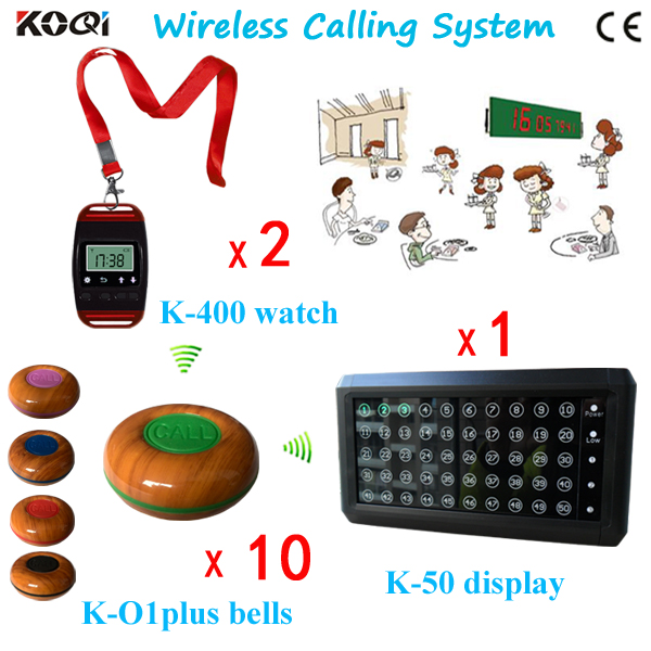 433.92mhz Catering Equipment Table Buzzer Restaurant Wireless Call Button with Alphanumeric Pager and Display(China (Mainland))
