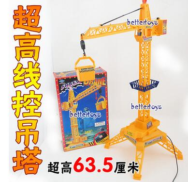 Popular toys educational toys building Team children's toys remote control toy crane engineering free shipping(China (Mainland))