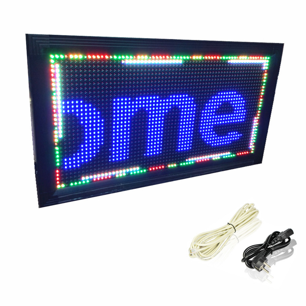 Double sided Full color RGB LED sign P10 scroll outdoor LED display information 32*64 pixel led message sign board running text(China (Mainland))