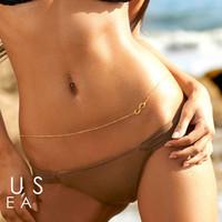 золото живот цепи повезло 8 номер сексуальный берег тела цепи украшения цепи живота