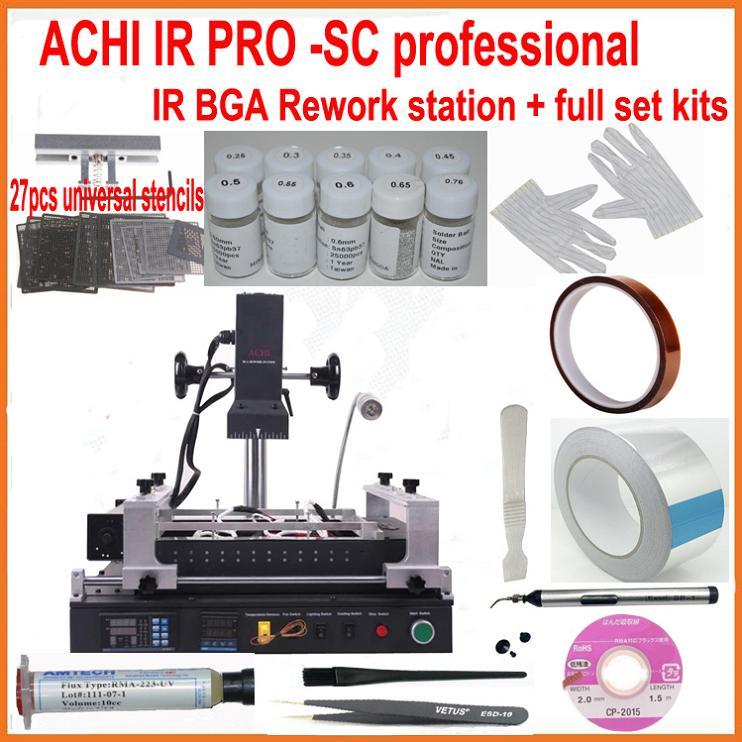 2016 New full set ACHI IR PRO SC V.4 Infrared BGA rework station + 20 reballing kits for laptop game consoles xbox ps3 repair(China (Mainland))