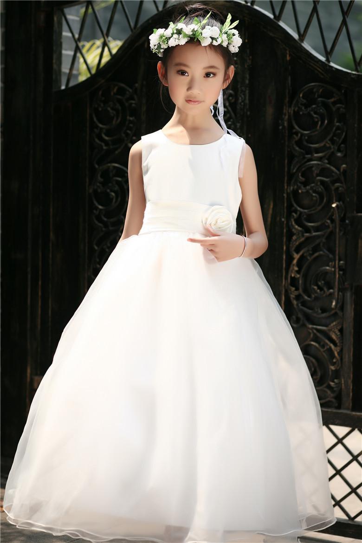 Original Factory Flower Girl Dress Top Grade Evening Dress Mesh Lace Princess Clothes Young Lady Suit High Quality(China (Mainland))