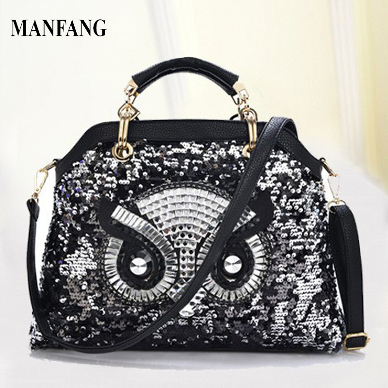 2015 New Fashion Trend PU Leather Women Handbags The Owl Tote Female Shoulder Bags High Quality <br><br>Aliexpress