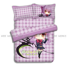 Hot selling Seraph of the end bed sheet pillow case quilt cover Hiiragi Shinoa