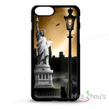 For iphone 4/4s 5/5s 5c SE 6/6s plus ipod touch 4/5/6 mobile cellphone cases cover New york statue of liberty NYC city skyline