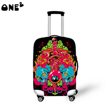 ONE2 Design Fashion travel luggage cover travel bag cover geometric pictures for suitcase girls good quality(China (Mainland))