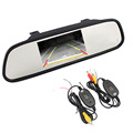 Universal Parking Accessories 4 3 Color TFT Car Rearview Mirror Monitor for 12V DVD Camera VCR
