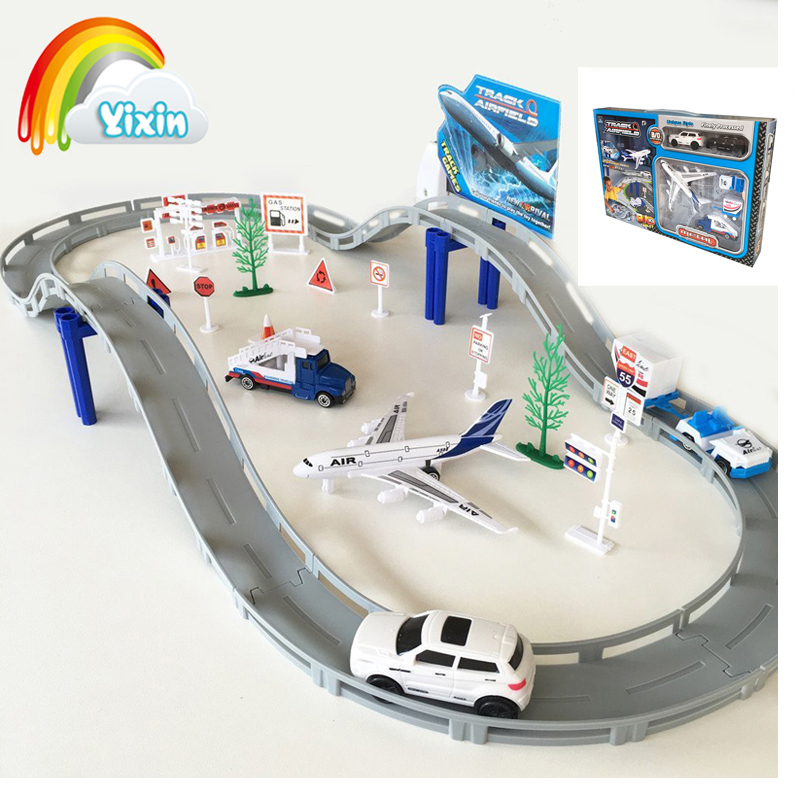 YIXIN 31pcs Passenger PLANE MODEL Air Plane Passenger Airport Simulation Car Track Traffic Bricks Boy Toy For Over 3 Years Old(China (Mainland))