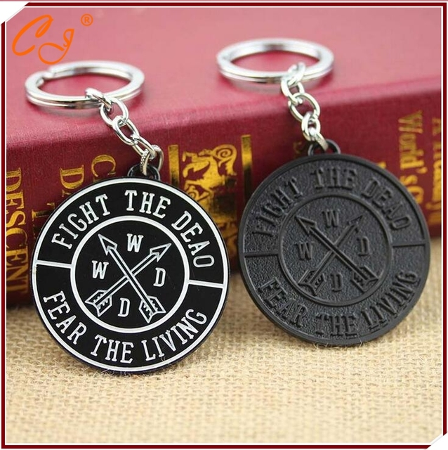 The Walking Dead Fear The Living Fight The Dead Pendant Keychain