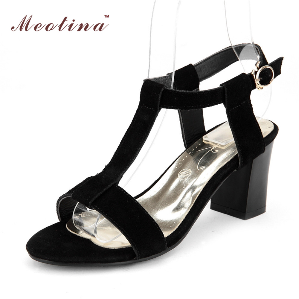 Black Chunky Heel Sandals Promotion-Shop for Promotional Black