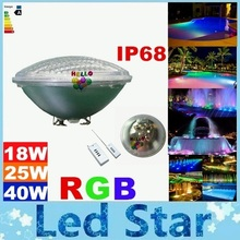 CE ROHS UL SAA 12V Led Pool Light Bulb 18W 25W 40W RGB Led Underwater Lights Fountains Led For Pool Decoration Waterproof(China (Mainland))