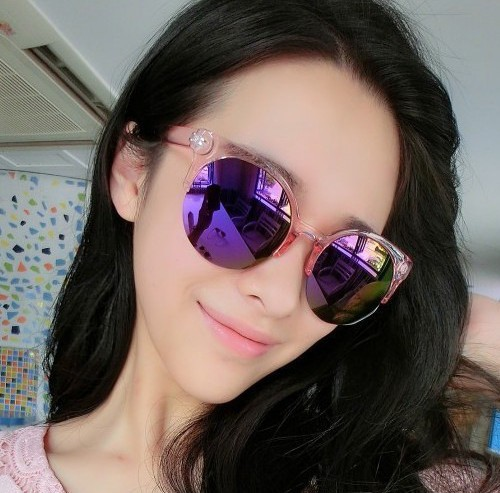 2016 European And American Style All-match Fashion Transparent Frame Colorful Mercury Reflective Sunglasses Holiday Sunglasses(China (Mainland))