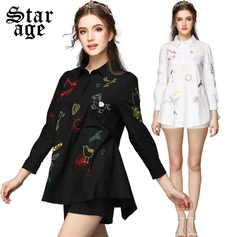 Embroidered Blouses And Tops Cotton 18