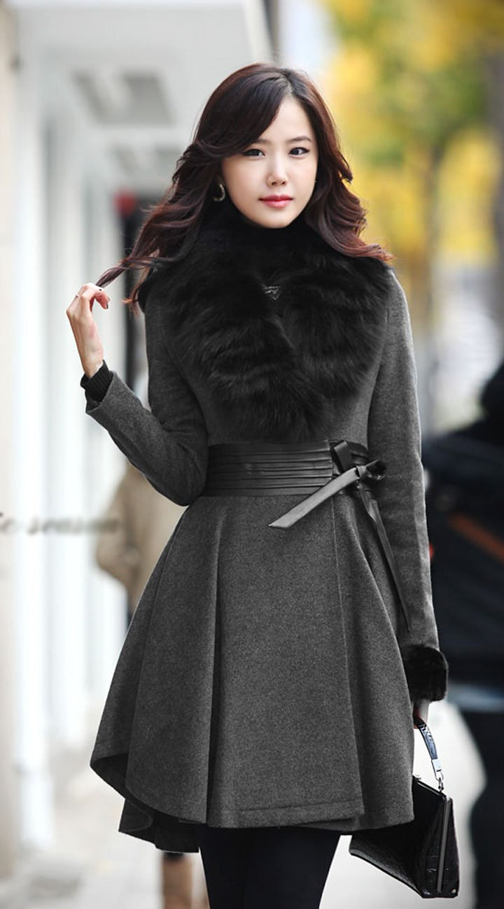 Wholesale New Arrival Fashion Women Long Cashmere Jacket,Real Fox ...