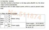 Шаговый двигатель Wantai 3 Nema 17 42BYGHW609 56oz/+ DQ420MA 1.7a 36V 128Micro + Power Reprep DIY CNCGrind