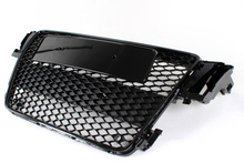 ABS A5 RS5 Mesh Grille,Black Car Front Grill Grille For Audi (fit A5 2D 4D  S5 RS5 8T Bumper 2009-2011)(China (Mainland))