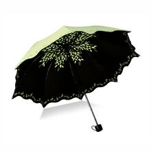 Fashion Flower Sunny and rainy umbrella women paraguas creative-umbrella parapluie portable three folding unmbrella,S2047(China (Mainland))