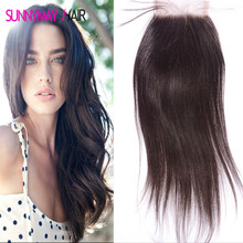 UPS Free Shipping 8A Straight Brazilian Virgin Human Hair Bleached Knot Lace Closure With Natural Hairline Nape Frontal Style