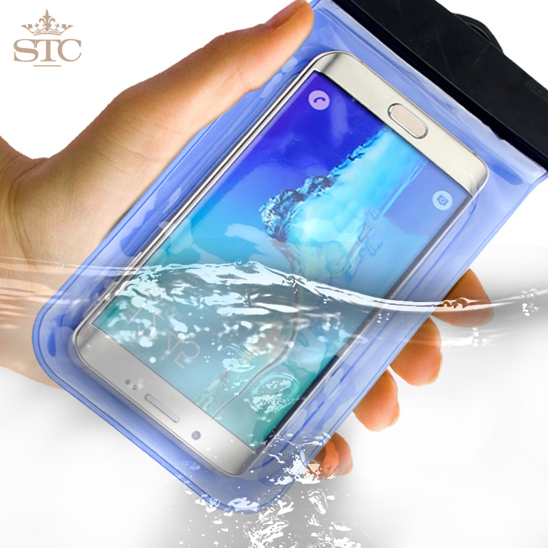 For Samsung Galaxy S7 S6 S5 S4 Mobile Cell Phone 5.7 to 6 inch Universal Waterproof Diving PVC Bag Case Underwater Pouch Cover(China (Mainland))