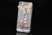 3D для iphone 5 5s 5c 4 4s samsung Галактика s3 s4 Примечание 2 3 i9300 i9500 n7100 n9000 случае алмаз bling мода кристалл жемчужина Обложка