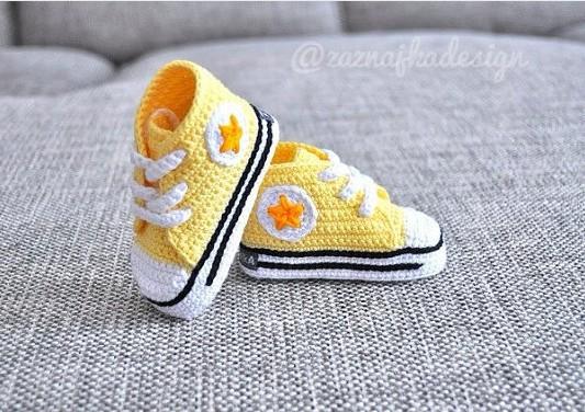Zapatitos all star crochet - Imagui