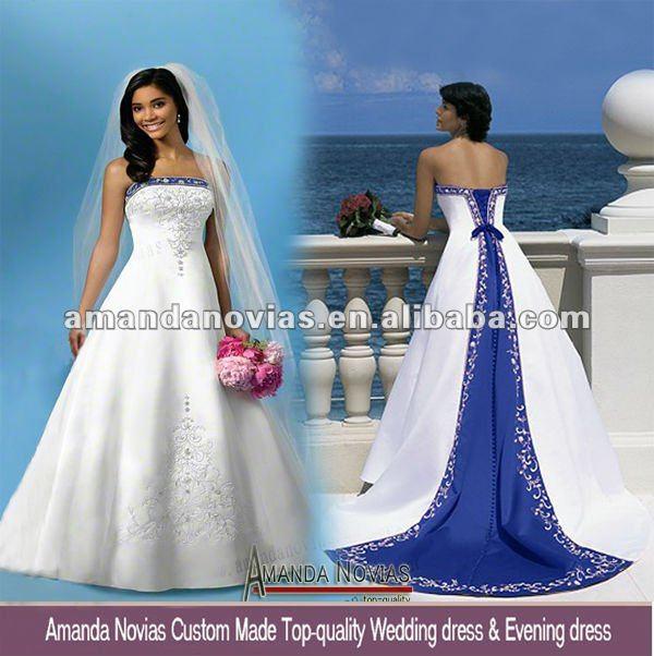 Royal Blue And White Wedding Dresses 0 Fresh g a alicdn kf