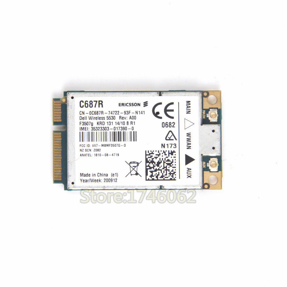 Unlocked Ericsson F3507G Wireless 3G WWAN Card for DELL Wireless 5530 HSDPA GPS WCDMA XX982 0XX982 CN-0XX982(China (Mainland))